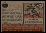 1962 Topps #443  Del Crandall  Back Thumbnail