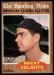1962 Topps #472   -  Rocky Colavito All-Star Front Thumbnail