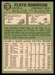 1967 Topps #120  Floyd Robinson  Back Thumbnail