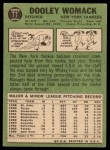 1967 Topps #77  Dooley Womack  Back Thumbnail
