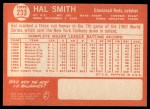 1964 Topps #233  Hal W. Smith  Back Thumbnail