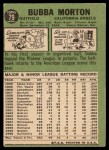 1967 Topps #79  Bubba Morton  Back Thumbnail
