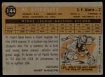 1960 Topps #144   -  Al Stieglitz Rookie Star Back Thumbnail