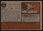 1962 Topps #356  Tom Haller  Back Thumbnail