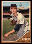 1962 Topps #361  Bob Hendley  Front Thumbnail
