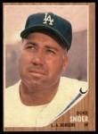 1962 Topps #500  Duke Snider  Front Thumbnail