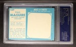 1961 Topps #169  Paul McGuire  Back Thumbnail