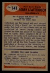 1955 Bowman #141  Bobby Clatterbuck  Back Thumbnail