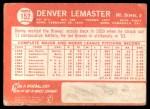 1964 Topps #152  Denver Lemaster  Back Thumbnail
