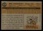 1960 Topps #349  Moe Drabowsky  Back Thumbnail