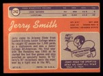 1970 Topps #242  Jerry Smith  Back Thumbnail