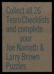 1973 Topps  Checklist   Colts Back Thumbnail