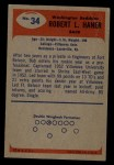 1955 Bowman #34  Robert Haner  Back Thumbnail