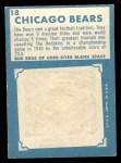 1961 Topps #18   Bears Team Back Thumbnail
