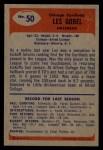 1955 Bowman #50  Les Gobel  Back Thumbnail