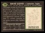 1969 Topps #220  Dave Lloyd  Back Thumbnail