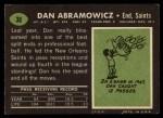 1969 Topps #36  Dan Abramowicz  Back Thumbnail