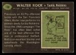 1969 Topps #136  Walter Rock  Back Thumbnail