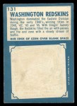 1961 Topps #131   Redskins Team Back Thumbnail