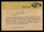 1961 Fleer #136  Elbert Dubenion  Back Thumbnail