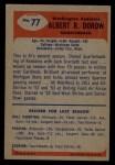 1955 Bowman #77  Al Dorow  Back Thumbnail