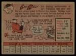 1958 Topps #204  Leo Kiely  Back Thumbnail