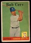 1958 Topps #329  Bob Cerv  Front Thumbnail