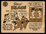1960 Topps #218  Solly Hemus  Back Thumbnail