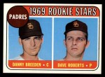 1969 Topps #536   -  Dave Roberts / Danny Breeden Padres Rookies Front Thumbnail