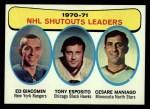 1971 Topps #5   -  Ed Giacomin / Tony Esposito / Cesare Maniago Shutouts Leaders Front Thumbnail