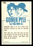 1965 Fleer Gomer Pyle #33   Don't Grind Your Teeth Back Thumbnail