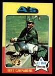 1975 Topps #170  Bert Campaneris  Front Thumbnail