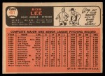 1966 Topps #481  Bob Lee  Back Thumbnail