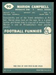 1960 Topps #90  Marion Campbell  Back Thumbnail