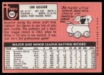 1969 Topps #482 *WN* Jim Gosger  Back Thumbnail