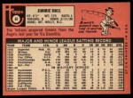 1969 Topps #61  Jimmie Hall  Back Thumbnail