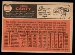 1966 Topps #153  Rico Carty  Back Thumbnail