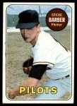 1969 Topps #233 *ERR* Steve Barber  Front Thumbnail