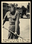 1965 Fleer Gomer Pyle #11   The Sergeant is All for Safety Front Thumbnail