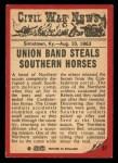 1965 A and BC England Civil War News #51   Horse Thieves Back Thumbnail
