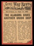 1965 A and BC England Civil War News #31   Terror of the Sea Back Thumbnail