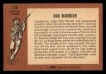 1966 A and BC England Battle #15   Dog Warrior Back Thumbnail