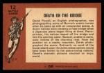 1966 A and BC England Battle #12   Death On The Bridge Back Thumbnail