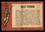 1966 A and BC England Battle #33   Nazi Terror Back Thumbnail