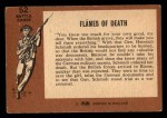 1966 A and BC England Battle #52   Flames Of Death Back Thumbnail