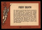 1966 A and BC England Battle #42   Fiery Death Back Thumbnail