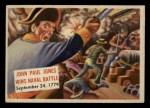 1954 Topps Scoop #81   John Paul Jones Wins Naval Front Thumbnail