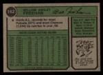 1974 Topps #162  Bill Freehan  Back Thumbnail