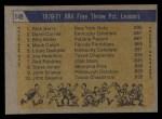 1971 Topps #149   -  Rick Barry / Billy Keller / Darrel Carrier ABA Free Throw % Leaders Back Thumbnail