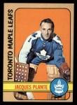 1972 Topps #24  Jacques Plante  Front Thumbnail
